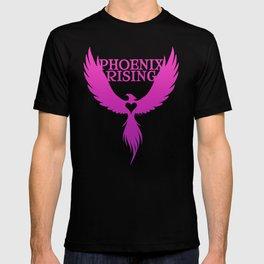PHOENIX RISING purple with heart center T-shirt
