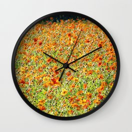 Peace and Harmony in The Colors of Sunshine Wall Clock