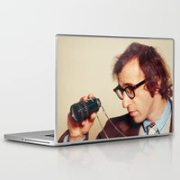 woody allen Laptop & iPad Skins featuring WOODY ALLEN by VAGABOND