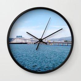 Macau Bridge Wall Clock