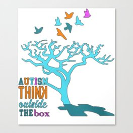 Autism think outside the box Canvas Print