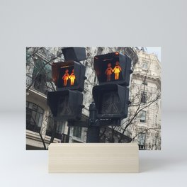 Gay Street Lights (Lesbian Couple) Mini Art Print