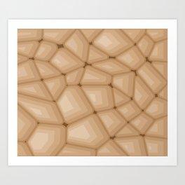 BROWN STONE Abstract Art Art Print