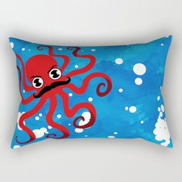Moustache Octopus Rectangular Pillow