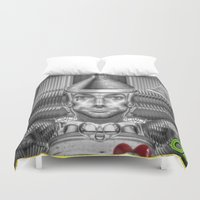 oz Duvet Covers featuring Tinman of Oz by Max Schultz