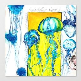 Blue jellys Canvas Print