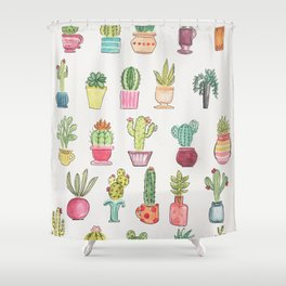 Cactus Party Shower Curtain