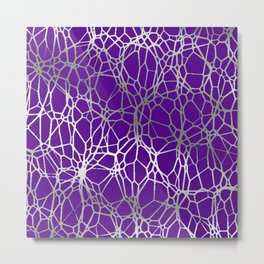Pattern and Light purple silver Metal Print