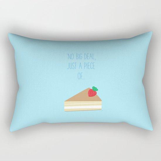 'Just piece of cake!' Rectangular Pillow