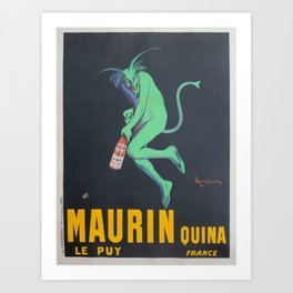 Vintage poster - Maurin Quina Art Print