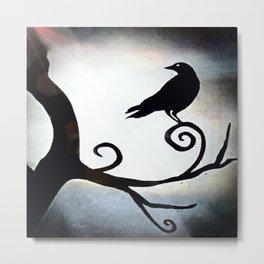 Spotlight Crow Metal Print