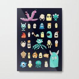 Little Monsters 2 Metal Print