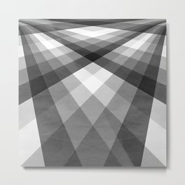 Black & White Groovy Checkerboard Metal Print