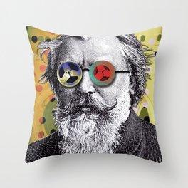 Brahms in Reel to Reel Glasses Throw Pillow