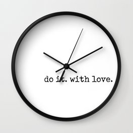 Do i. With Love. Typewriter Style Wall Clock