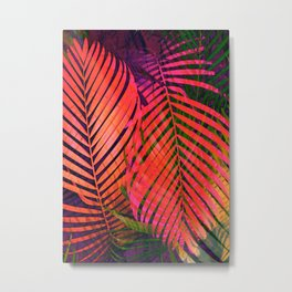 COLORFUL TROPICAL LEAVES no2 Metal Print