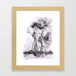 Jolt - Ink Elephant Painting Framed Art Print