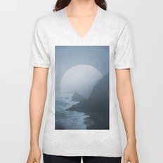 B+W New Zealand Coast II  Unisex V-Neck