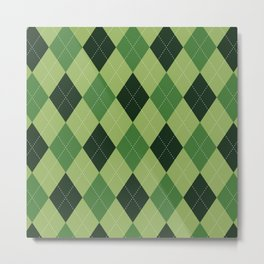 Argyle greens Metal Print