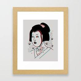Psychedelic Geisha Framed Art Print