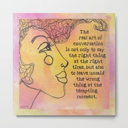 The real art of conversation Metal Print