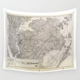Metropolitan Map of Queens, New York (1922) Wall Tapestry