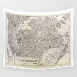 Metropolitan Map of Queens, New York (1922) Wall Tapestry