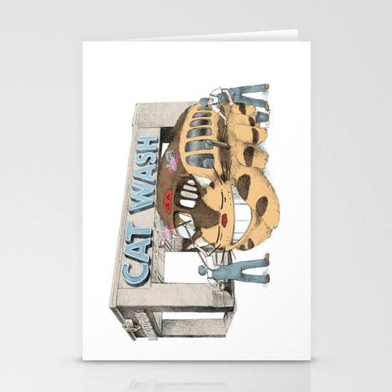 Cat Wash Stationery Cards
