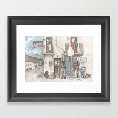 Pizzeria Oliveri Framed Art Print