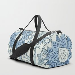 William Morris Beautiful floral pattern, blue,rose,william Morris pattern, art nouveau pattern Duffle Bag