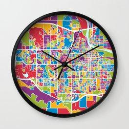Lawrence Kansas City Map Wall Clock