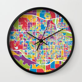 Lawrence Kansas City Map Wall Clock