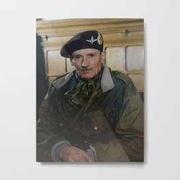 Field Marshal Sir Bernard Montgomery - WW2 - 1944 Metal Print