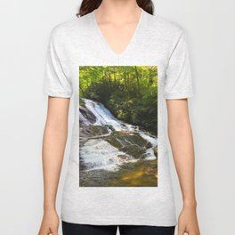 Cathy Creek Falls 2 Unisex V-Neck