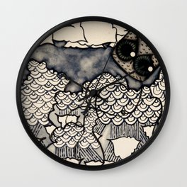 Rainy Night Wall Clock