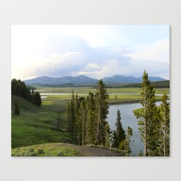 Yellowstone River Valley View Canvas Print