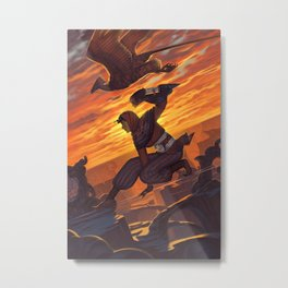 Virtues Series: Patience, the Falconer Woman Warrior Metal Print