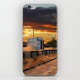 Sunset at the Coonawarra Rail Station iPhone Skin