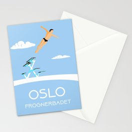 Oslo Frognerbadet Stationery Cards