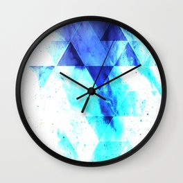 Ice background Wall Clock