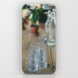 Wood Grain & Glasses  iPhone Skin