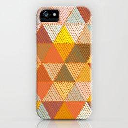 Meditative Lines on Rust #Geometric #Pattern iPhone Case