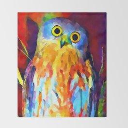 Barking Owl Throw Blanket