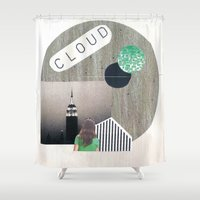 cloud Shower Curtains featuring Cloud by anitaa