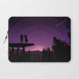 Falling star night Laptop Sleeve