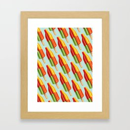 Popsicle Pattern- Bingo Bomb Framed Art Print