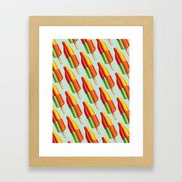 Popsicle Pattern- Bingo Bomb Framed Art Print