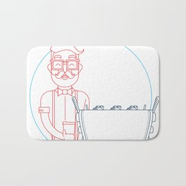 Coffee (lineart) Bath Mat