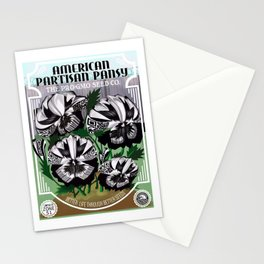 The Partisan Pansy Seed Packet Stationery Cards