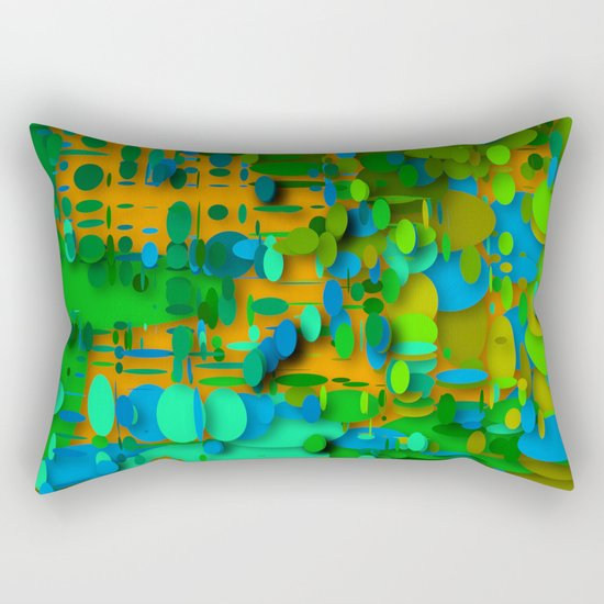 round green garden Rectangular Pillow